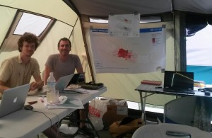 UN Tent with Ewan Oglethorpe