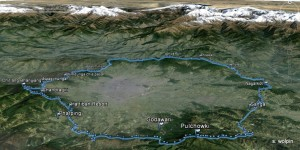Started in Mudkhu on the Trishuli Highway and went clockwise