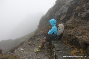 Climbing through the clouds can make one tired - day 3